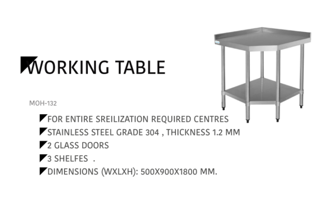 Working Table MOH-132