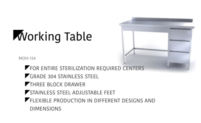 Working Table MOH-134