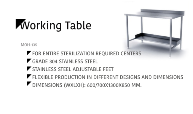 Working Table MOH-135
