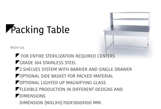 Packing Table MOH-136