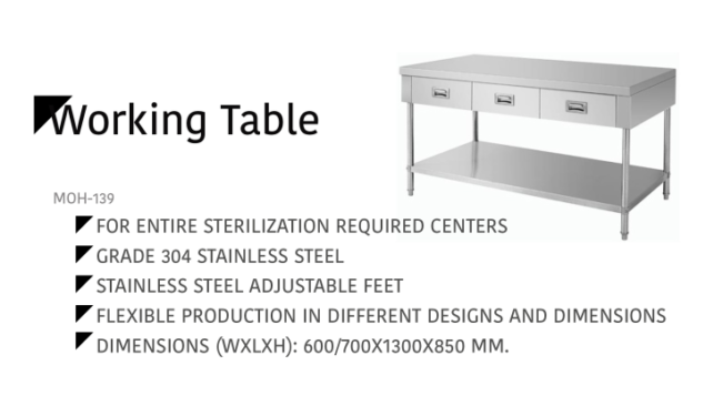 Working Table MOH-139