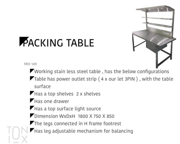 PackingTable MH149